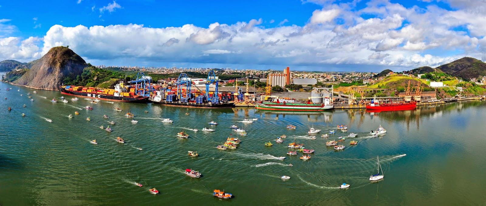 Resultado de imagem para controle de tráfego marítimo do Porto de Vitória
